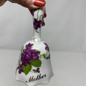 "Vintage Porcelain Bell  ""Mother"""